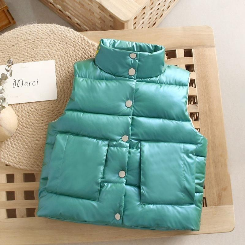 Solid Extra Thick Gilet for Toddler Boy