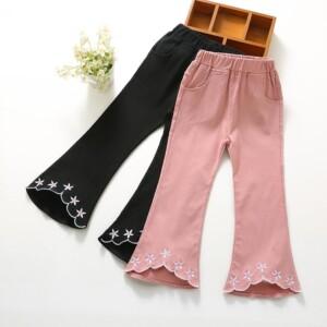 Bell-Bottomed Pants for Toddler Girl