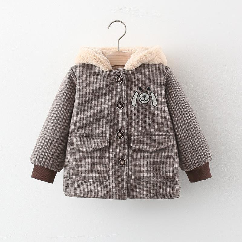Bear Pattern Puffer Jacket for Toddler Boy