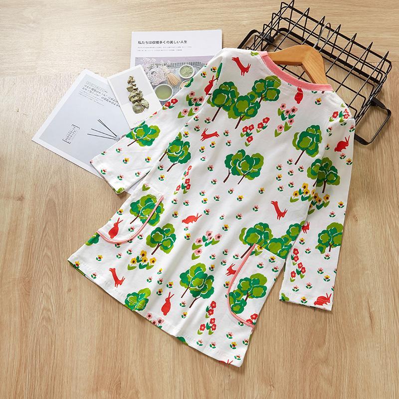 Cartoon Pattern Dress for Toddler Girl