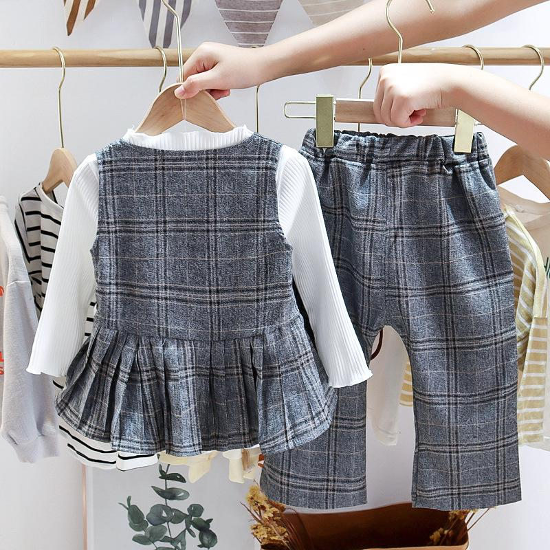 3-piece Plaid top & Plaid pants for Toddler Girl