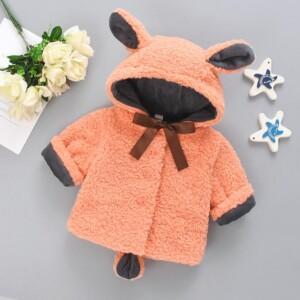Bowknot Pattern Coat for Toddler Girl