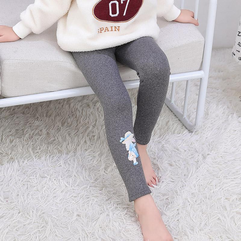 Fleece-lined Cartoon Pattern Boot Pants for Toddler Girl
