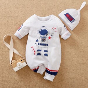 2-piece Galaxy Pattern Jumpsuit for Baby
