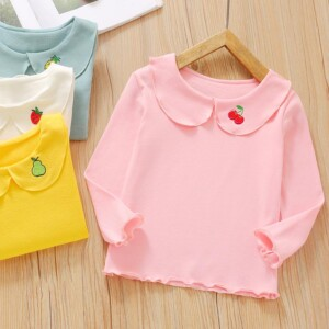 Cute Long sleeve T-shirt for Toddler Girl