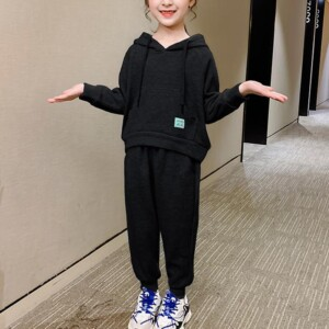 2-piece Hooded Sweater & Pants for Girl