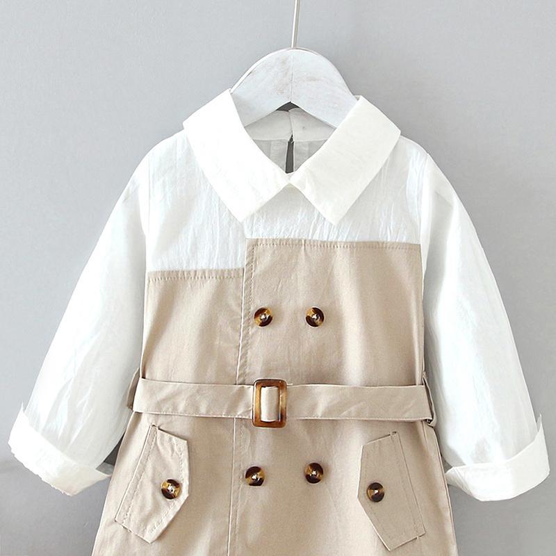 Color-block Pattern Dress for Toddler Girl