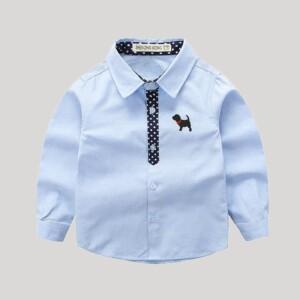 Polka Dot Decoration Long sleeve shirt for Boy
