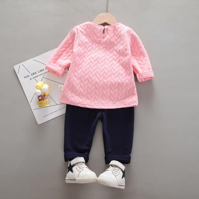 2-piece Rabbit Pattern Suit for Toddler Girl