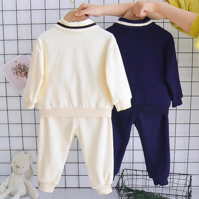 2-piece Solid Pattern Suit for Toddler Boy