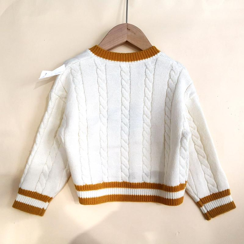 Bow Decorated Knitted Sweater for Toddler Girl