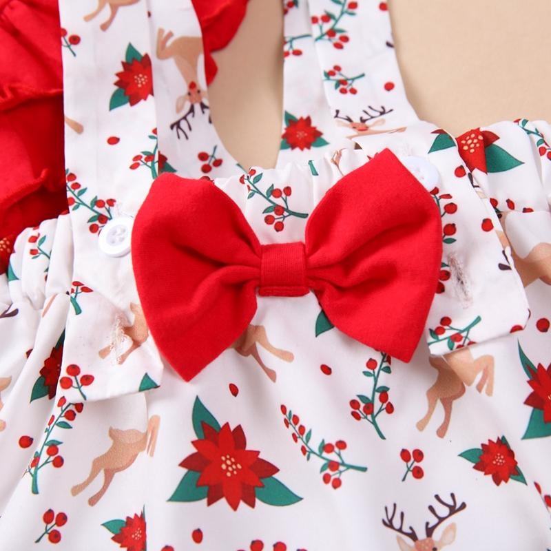 2-piece Christmas Letter Flare-sleeve Tee and Suspender Skirt Set
