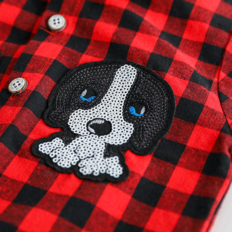 2-piece Plaid Shirt & Jeans for Toddler Boy