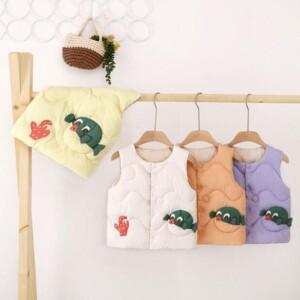 Cartoon Design Puffer Jacket for Toddler Girl