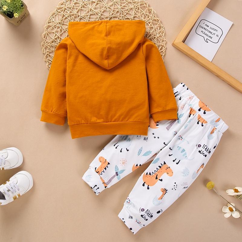 2-piece Cartoon Design Hoodie & Pants for Baby