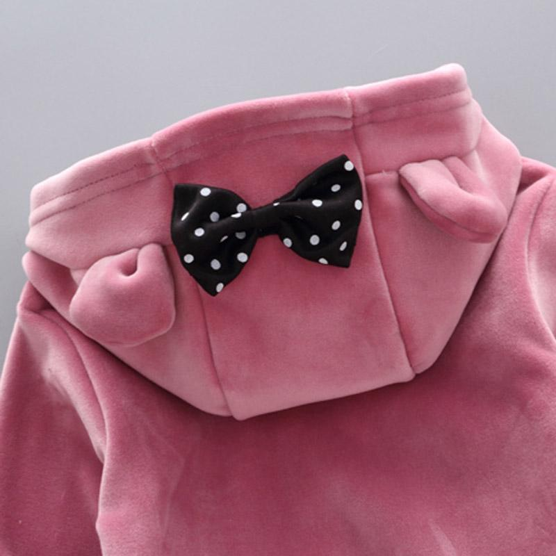 2-piece Letter Pattern Fleece-lined Suit for Toddler Girl