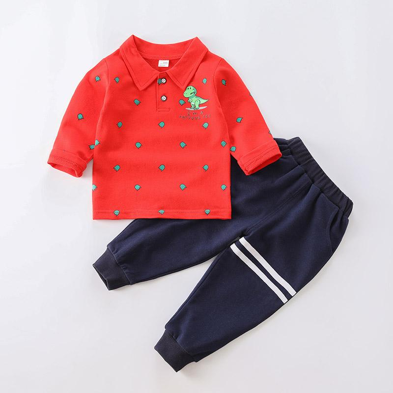 2-piece Dinosaur Pattern Shirt & Pants for Toddler Boy
