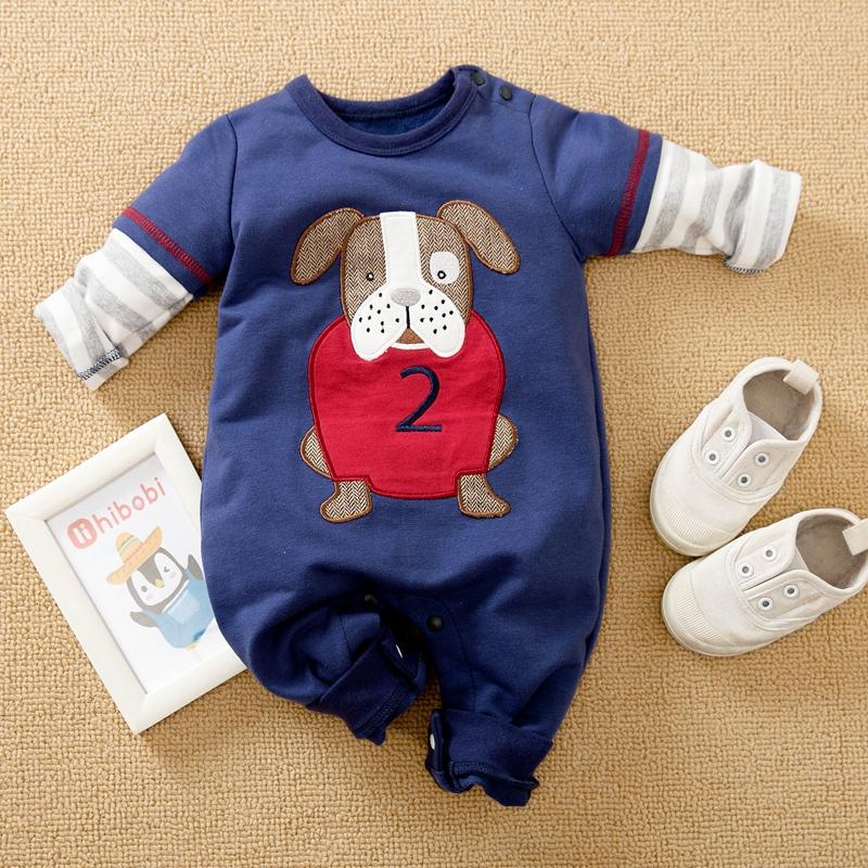 Dog Pattern Jumpsuit for Baby