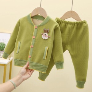 2-piece Animal Pattern Suit for Baby