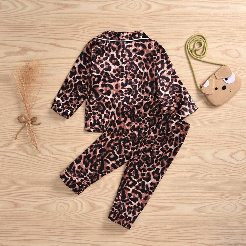 2-piece Leopard Pajamas Sets for Toddler Girl