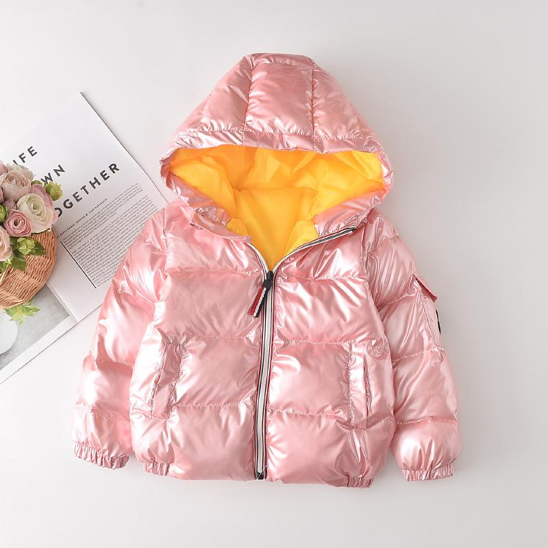 Solid Puffer Jacket Down Coat for Toddler Girl