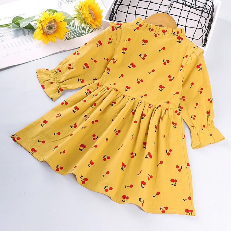 Cherry Printed Dress for Toddler Girl