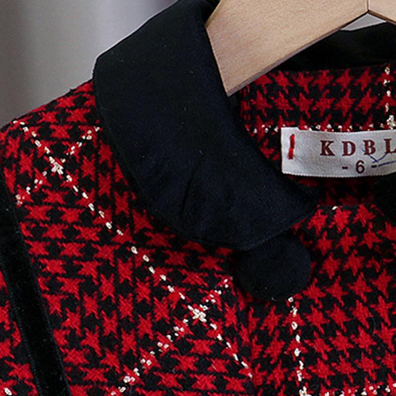 Plaid Pattern Duffle Coat for Toddler Girl