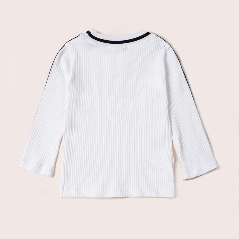 Letter Pattern Sweater for Toddler Girl