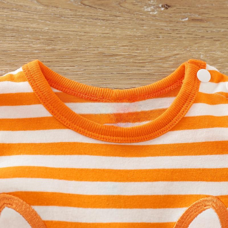 Fox Pattern Striped Jumpsuit for Baby