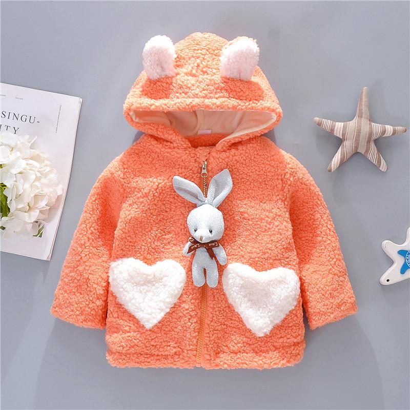 Rabbit Pattern Extra Thick Coat for Baby Girl