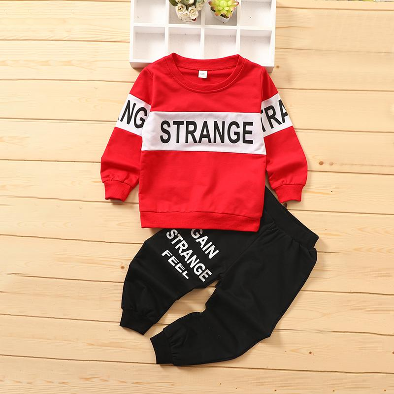 2-piece Letter Pattern Suit for Toddler Boy