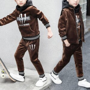 3-piece Letter Pattern Suit for Boy