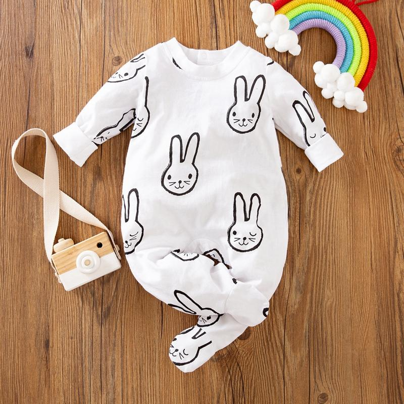 Rabbit Printed Jumpsuit for Baby