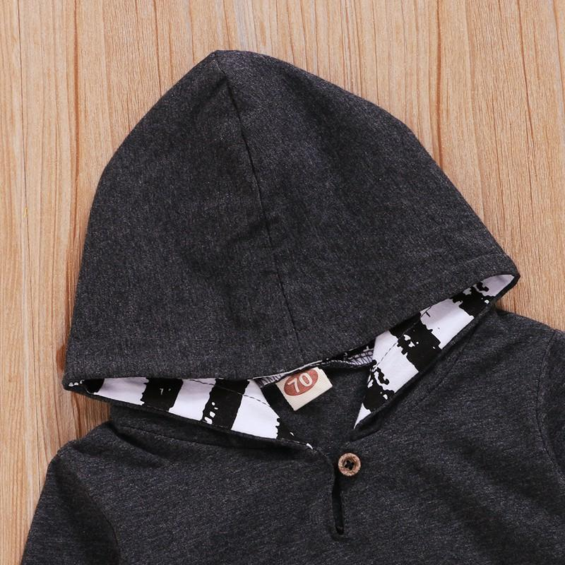 2-piece Striped Hoodie & Pants for Baby Boy