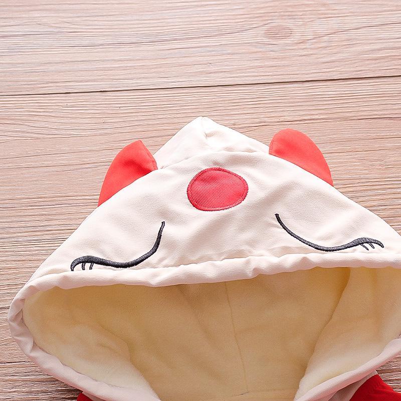 Fox Pattern Puffer Jacket for Toddler Boy