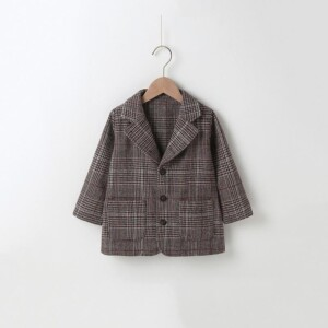 Plaid Duffle Coat for Toddler Girl