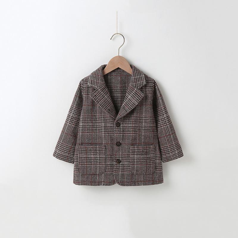 Plaid Duffle Coat for Toddler Girl