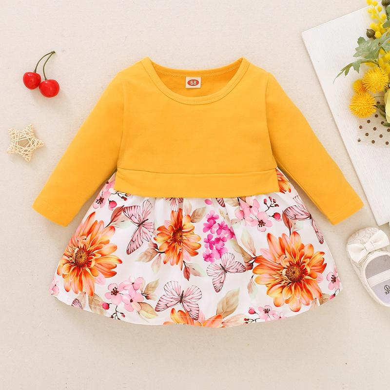 Floral Pattern Dress for Baby Girl