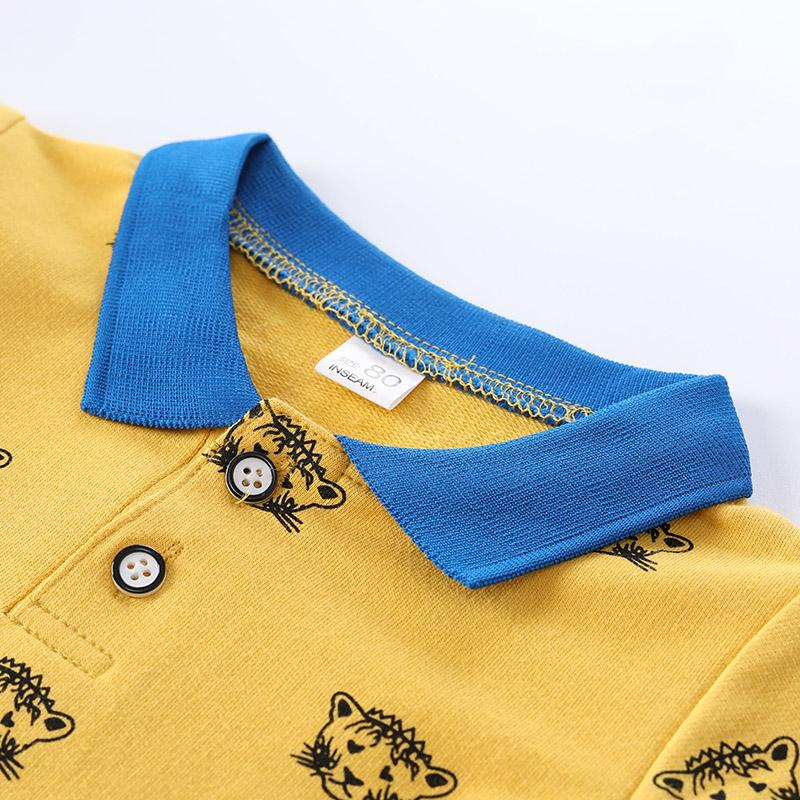 2-piece Tiger Stripe Print Shirt & Pants for Toddler Boy