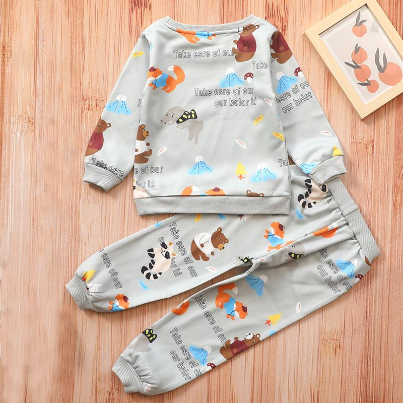 2-piece Cartoons Pattern Suit for Toddler Boy