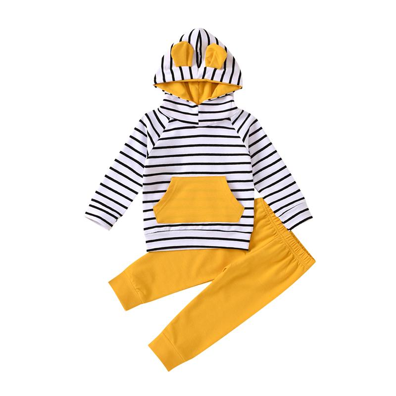 2-piece Stripes Suit for Baby