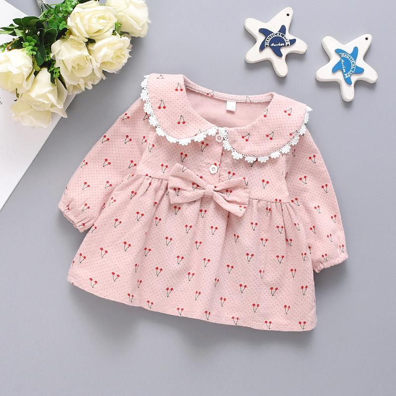 Cherry Printed Lace Dress for Toddler Girl