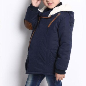 Fleece-lined Thick Hooded Puffer Jacket for Boy