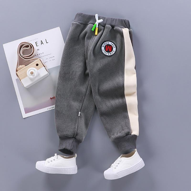 Color-block Flannel Sports Pants for Toddler Boy