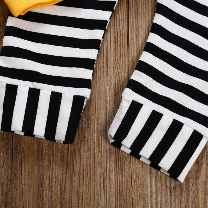 2-piece Rabbit Design Stripes Tops & Striped Pants for Baby