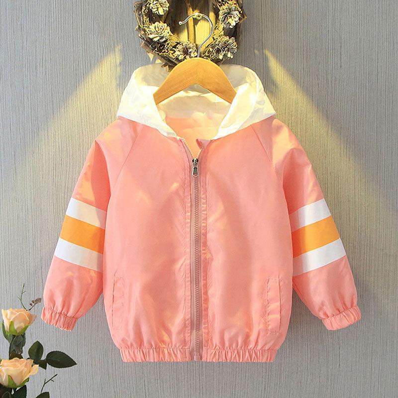 Color-block Pattern Coat for Girl