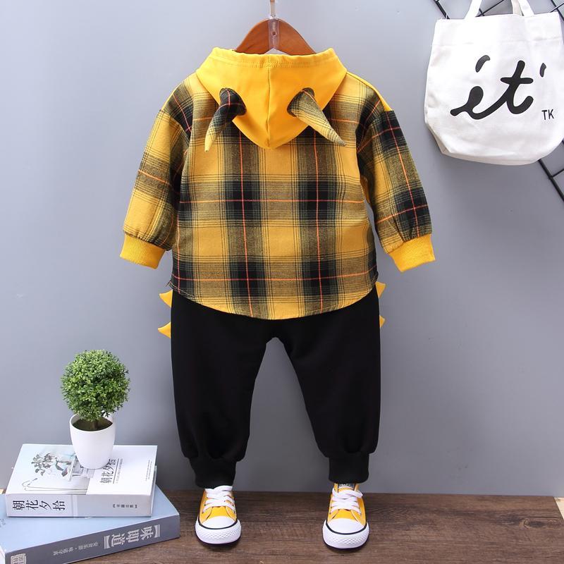 2-piece Cartoon Design Hoodie & Pants for Toddler Boy