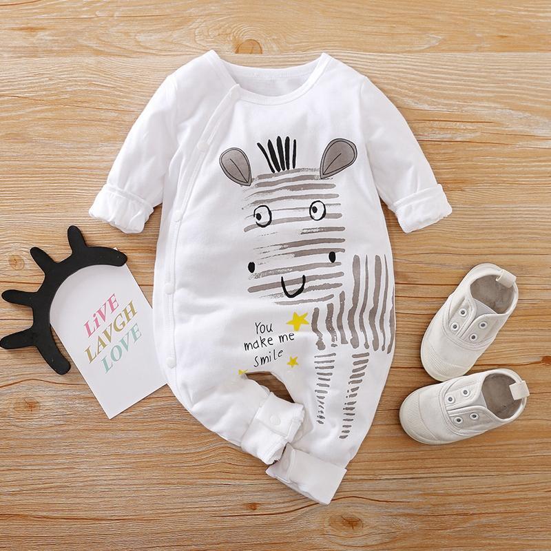 Zebra Stripe Print Jumpsuit for Baby Boy