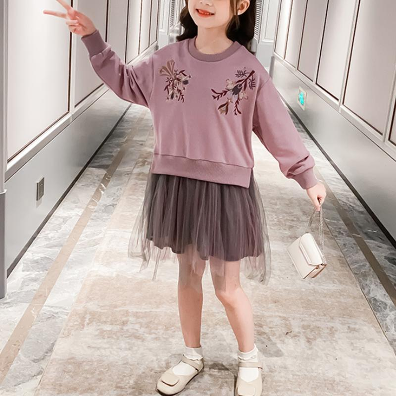 Floral Pattern Dress Cotton for Girl