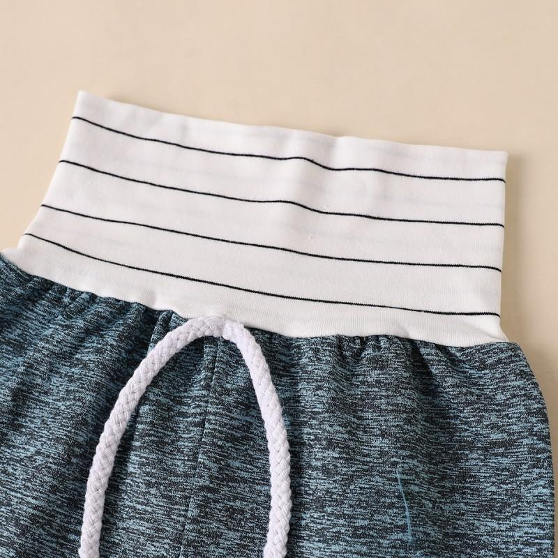 2-piece Color-block Hoodie & Pants for Baby Boy